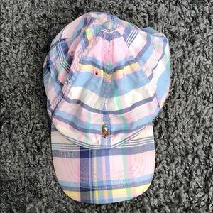Girls madras Polo Ralph Lauren baseball hat